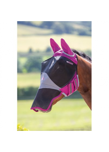 DELUX FLY MASK WITH EARS &...