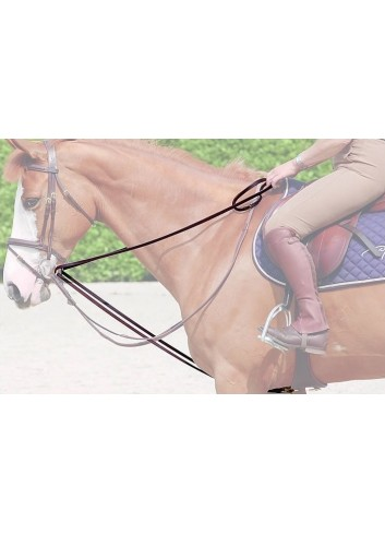 DY DRAW REINS 1/2 LEATHER...