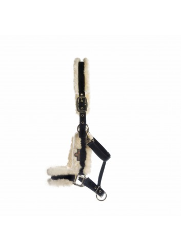 NYLON SHEEPSKIN HALTER...